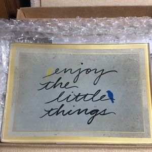 """Wise Words glass tray """" Enjoy the little things"""""""